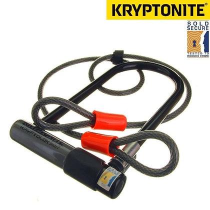 Bicycle Bike Kryptonite KryptoLok S2 Std D-Lock 4 Foot KryptoFlex Cable