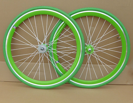 NOLOGO green Single Speed wheelsets Fixed Fixie 700c flip-flop hub Wheelsets