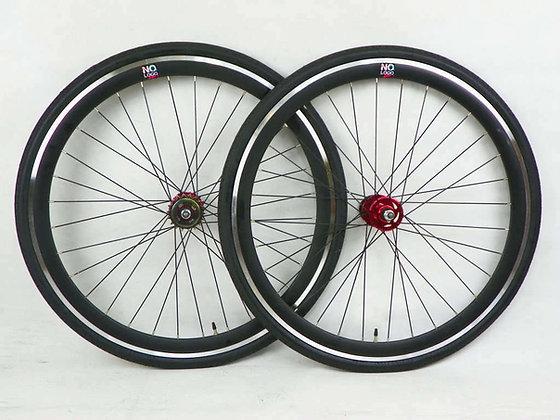 BLACK-red Single Speed wheel wheels wheelsets Fixed Fixie 700c flip-flop hub