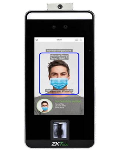 Terminal de Control de Acceso/Reconocimiento facial/Detección de Temperatura