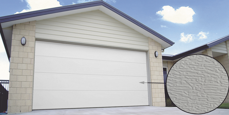 Puerta de Garage PREMIUM, Lisa color blanco 8X8 FT, AISLADA 2.44m x 2.44m