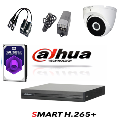 Dahua kit de 2 cámaras METAL ANTIVANDÁLICAS Mejor color FULL HD 1080