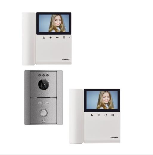 COMMAX Frente de calle y 2 monitores con auricular