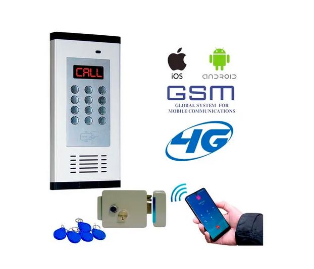 Interfon para condominio Gsm 4g 200 Casas C/lector, Chapa