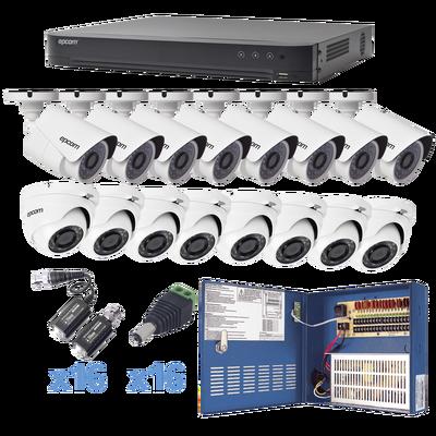 Sistema EPCOM TURBOHD 1080p / DVR 16 Canales / 8 Cámaras Bala