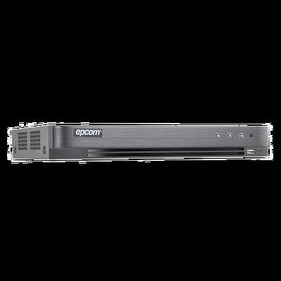 DVR EPCOM 3 Megapixel / 4 Canales TURBOHD + 1 Canales IP / 1 Bahía de Disco Duro