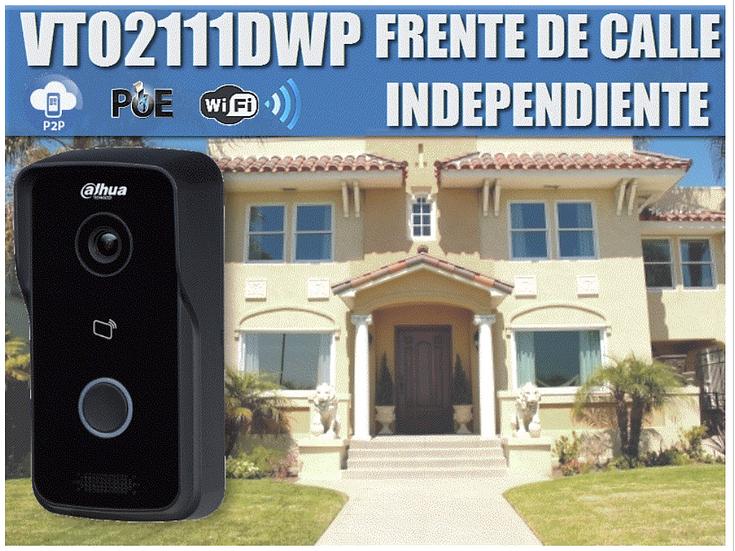 DAHUA VTO2111DWP- FRENTE DE CALLE WIFI INDEPENDIENTE/P2P/ANGULO VISION 102 GRADO