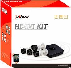 Kit de 4 cámaras Dahua de 1 mp CX