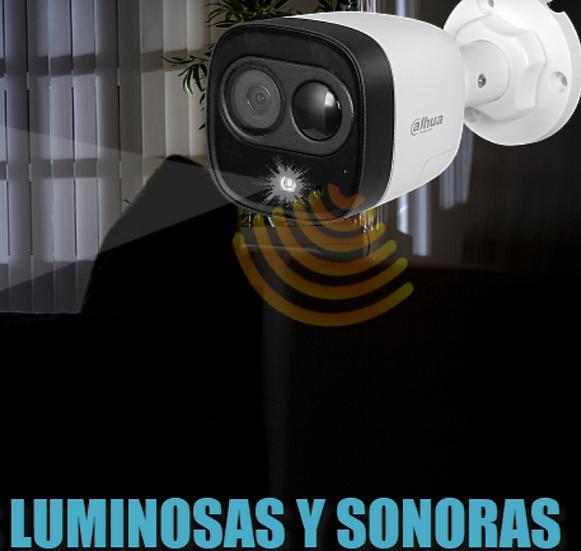 CAMARA DE SEGURIDAD DAHUA 2MP 1080p CON SIRENA Y LUZ BLANCA