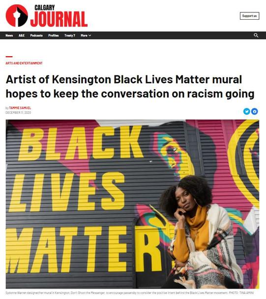 BLM mural article in Calgary Journal