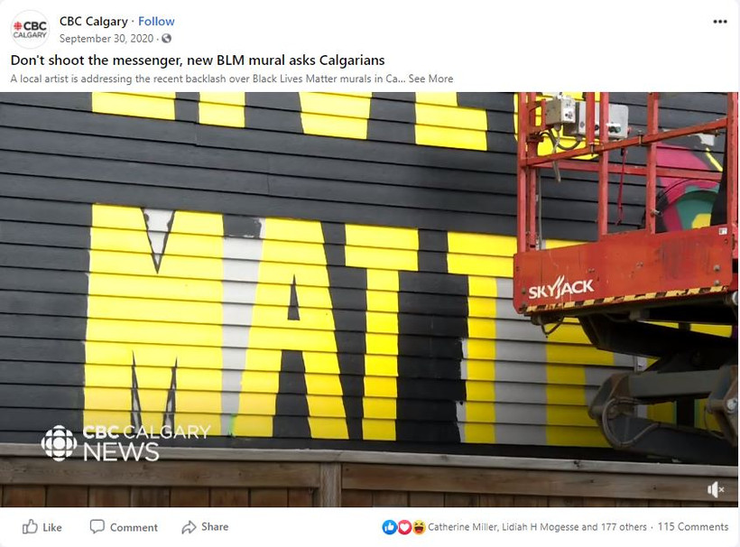 BLM Mural on CBC NEWS