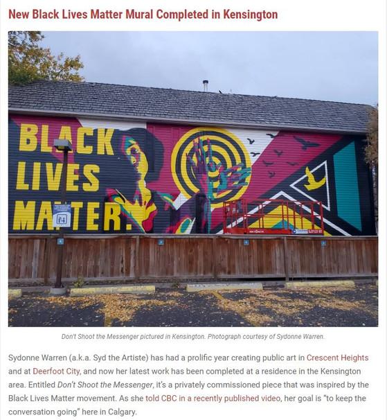 BLM Mural in Avenue Magazine