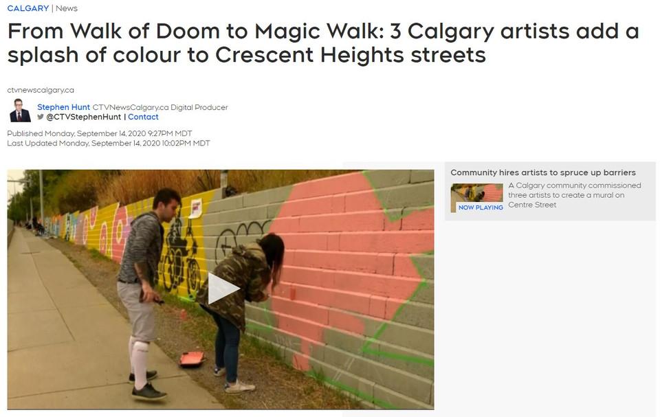 Magic Walk on CTV news