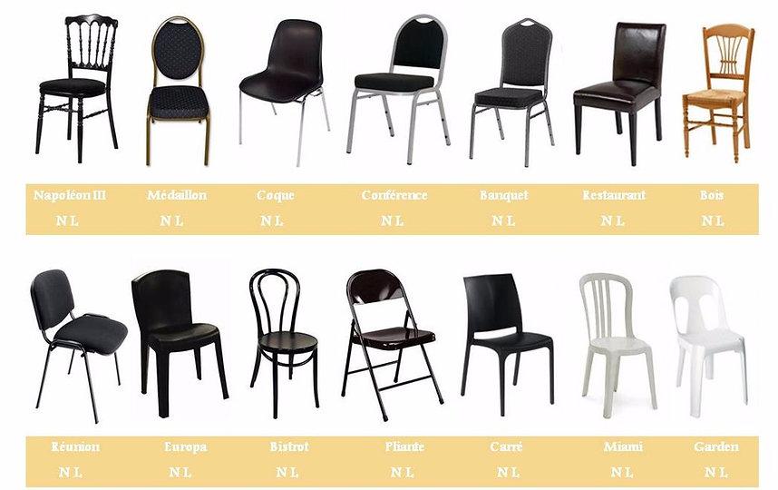 Quelles chaises pour location de housses de chaises mariage
