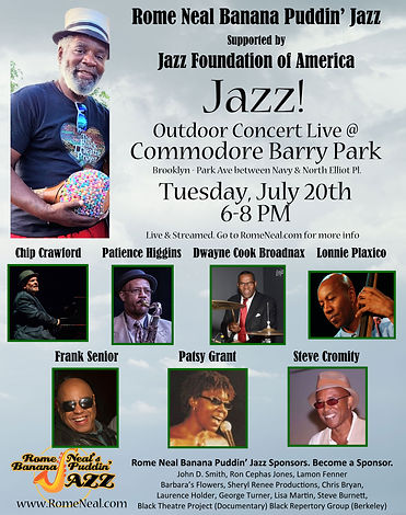 Rome Neal Banana Puddin' Jazz at Commore Barry Park July 20, 2021
