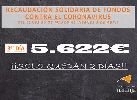 3er día de recaudación solidaria contra el coronavirus