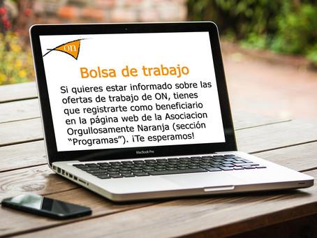 Para recibir nuestras ofertas de trabajo hay que inscribirse como Beneficiario