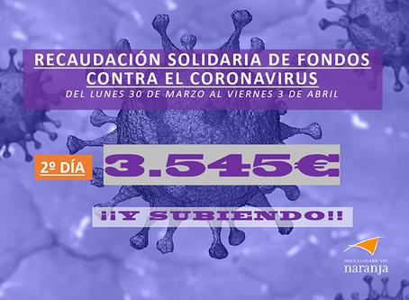 2º día de recaudación solidaria contra el coronavirus