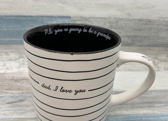 """""""Dad, I Love You"""" NOTED Porcelain Mug"""