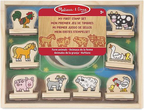 Melissa & Doug My First Stamp Set Farm Animals