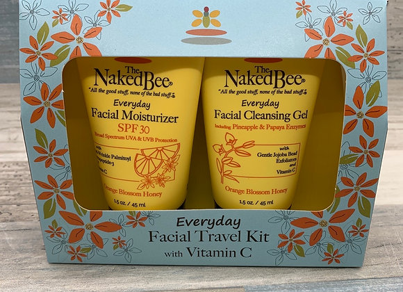 The Naked Bee - Everyday Facial Travel Kit with Vitamin C