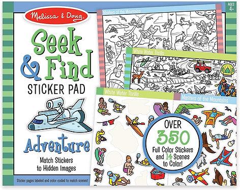 Melissa & Doug Seek and Find Sticker Pad Adventure