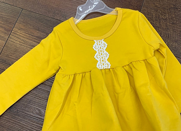 Yellow Long-Sleeved Dress