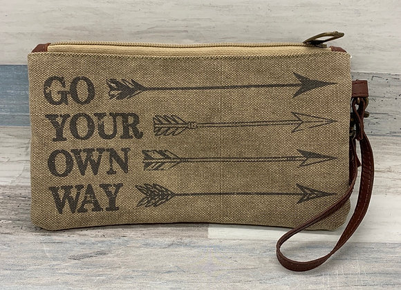 Go Your Own Canvas Clutch