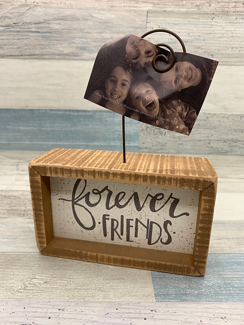 Decorative Inset Photo Block Forever Friends