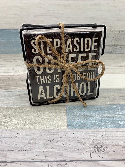 Stone Coaster Set - Alcohol