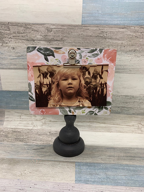Pedestal Photo Frame - Floral
