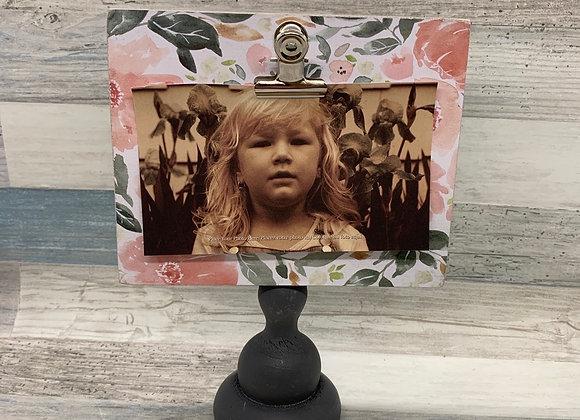 Pedestal Photo Frame - Floral