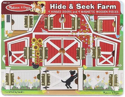 Melissa & Doug Magnetic Hide and Seek Farm