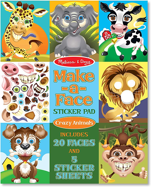Melissa & Doug Make a Face Sticker Pad