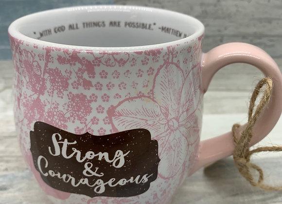 Strong and Courageous Mug