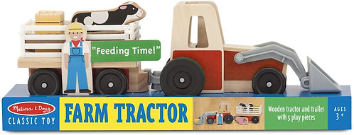 Melissa & Doug Farm & Tractor Play Set Toy