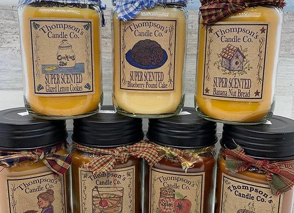 Thompson's Candle - Mason Jar Candle 12 oz.