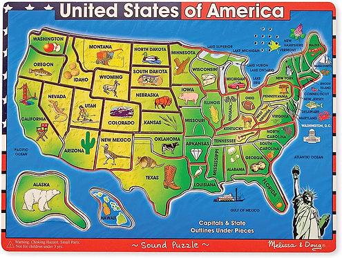 Melissa & Doug United States Sound Puzzle