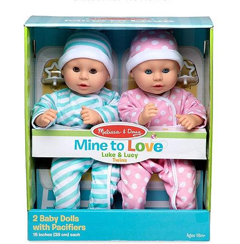 Melissa & Doug Mine To Love Luke & Lucy Dolls