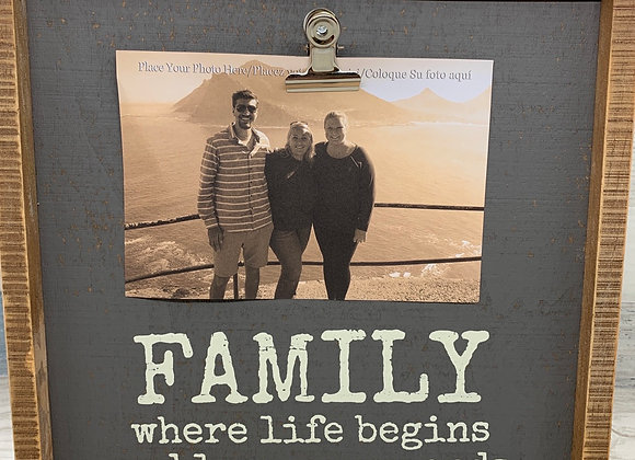 Family - Where Life Begins And Love Never Ends Photo Picture Frame