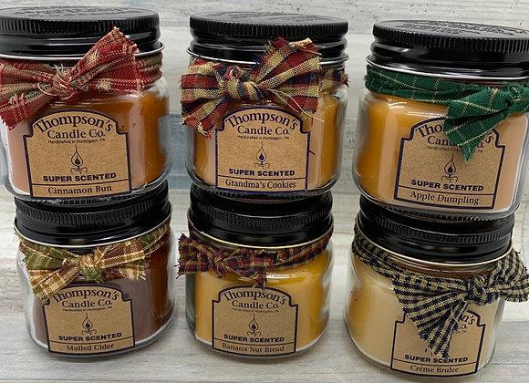 Thompson's Candles -  Mini Jar Candles 6 oz.