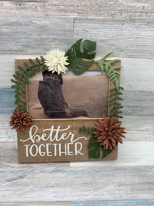 Botanical Design Better Together Picture Frame