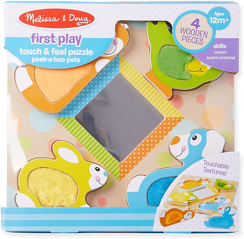 Melissa & Doug Peek-A-Boo Touch and Feel Puzzle