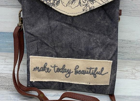 Make Today Beautiful Canvas Purse