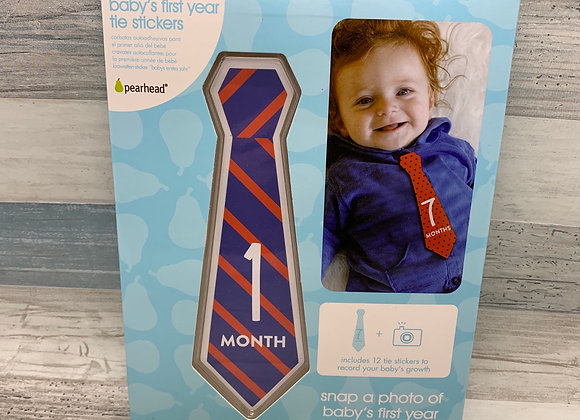 Baby's First Year Tie Stickers