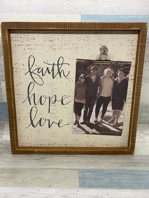 Faith, Hope, Love Photo Frame