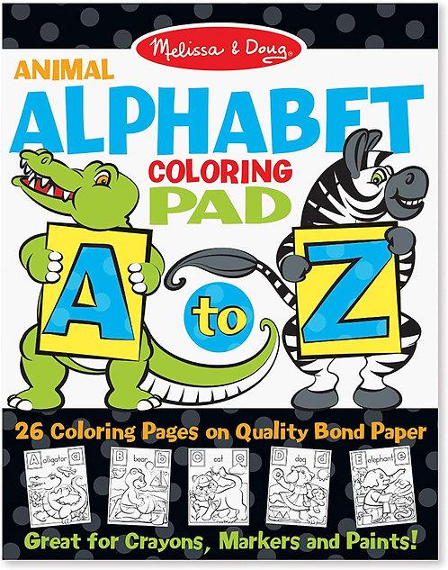 Melissa & Doug Animal Alphabet Coloring Pad