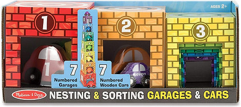 Melissa & Doug Nesting and Sorting Cars and Garages