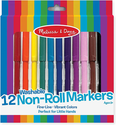 Melissa & Doug Non Roll Markers