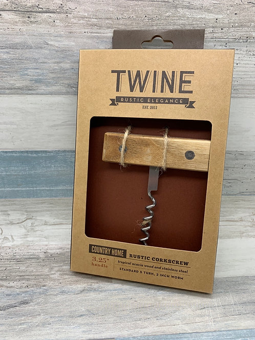 Twine Country Home Brown Steel/Wood Corkscrew